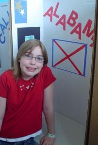 Third-grade Sabina in all of her third-grade glory.