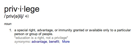 definition of privilege