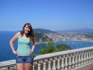 San Sebastian, Spain, during a short-term homestay program in high school.