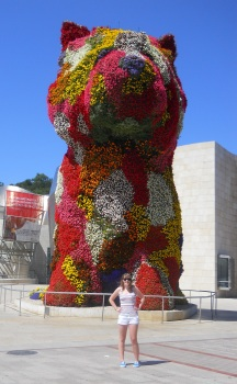 At the Guggenheim in Bilbao, Spain.