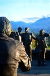 tourist statue