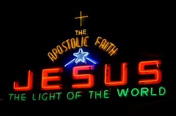 neon jesus sign