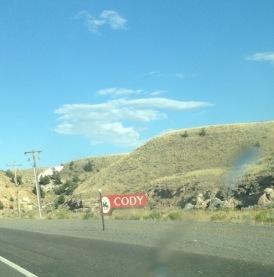 Cody Wyoming sign