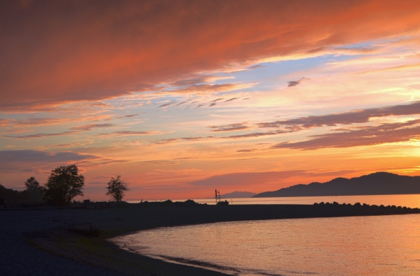 Spanish Banks sunset