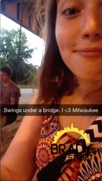 tire swing selfie