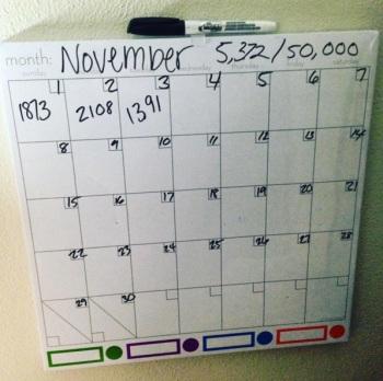 nanowrimo calendar