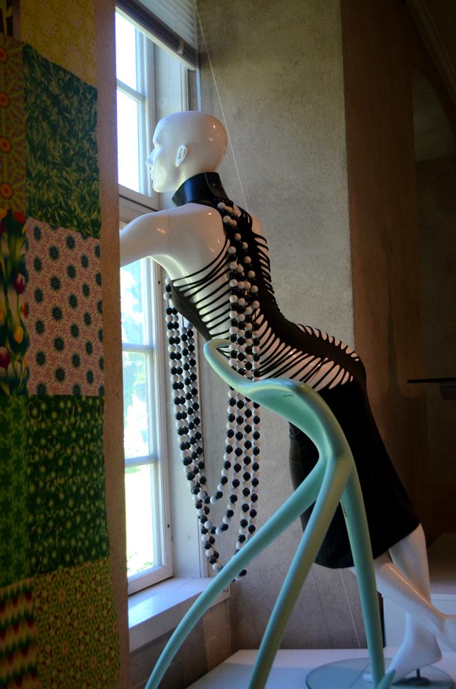 Clothing design on a mannequin at Designmuseum Danmark