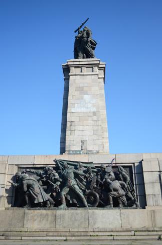 A communist sculpture in a park in Sofia
