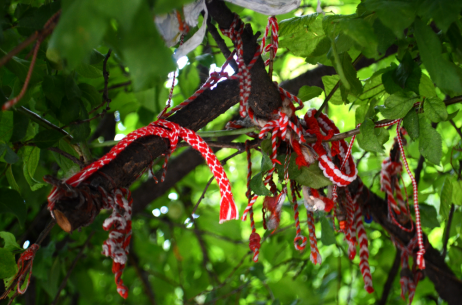 Bulgarian martenitsa red and white bracelets